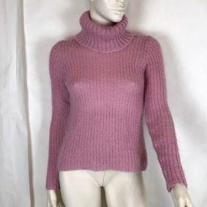 Ralph Lauren pink turtleneck mohair sweater XS